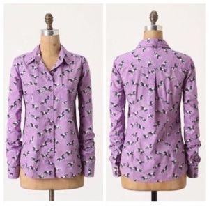 Anthropologie Odille Tarpan Button-Down Shirt